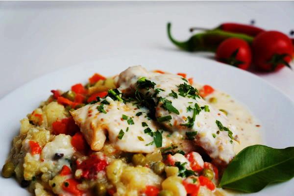 Piletina u susam sosu sa rižom